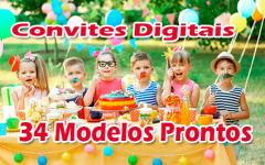 Convite Digital | 34 Modelos Prontos de Convite Digital Para Enviar Via WhatsApp
