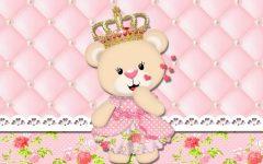 Convite Digital da Ursinha Princesa