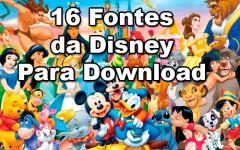 Fontes Walt Disney | 16 Fontes De Personagens Walt Disney Para Baixar Grátis