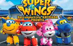 Retrospectiva Super Wings Pronta Para Personalizar