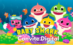 Convite Digital Baby Shark | Novidade, Convite Cartaz.