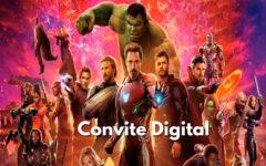 Convite Digital Vingadores | Novidade, Convite Cartaz.