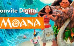Convite Digital da Moana | Novidade, Convite Cartaz.