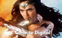 Convite Digital da Mulher Maravilha | Novidade, Convite Cartaz.