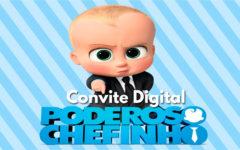 Convite Digital Poderoso Chefinho | Novidade, Convite Cartaz.